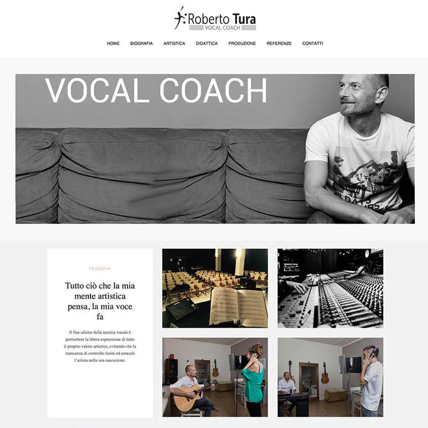 Sito internet Roberto Tura Vocal Coach